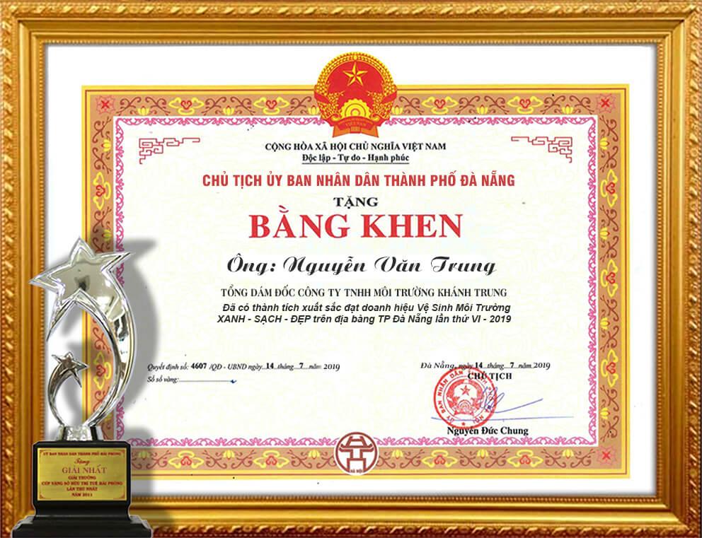 bang-khen-cong-ty-moi-truong-khanh-trung