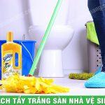 Cách tẩy trắng sàn nhà vệ sinh bằng nước tẩy chuyên dụng